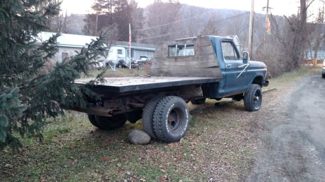 Ford F X Dually Flatbed Dump With Plow