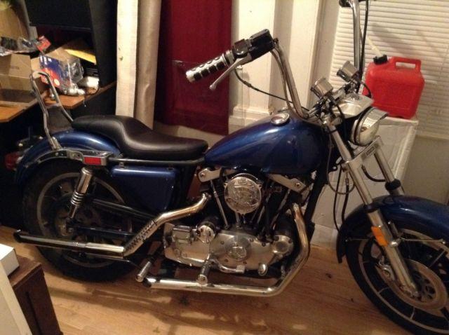 1979 Harley Sportster Iron Head XL 1200 Blue 4000 Miles Rebuilt Custom