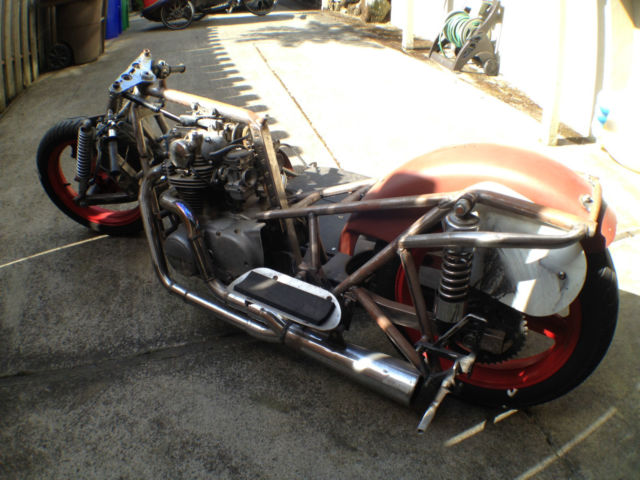 yamaha xs custom built road racing sidecar