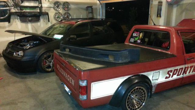 vw rabbit volkswagen caddy pickup sportruck berg widebody  abf recaro