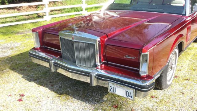 1982 Lincoln Continental Mark Vi Coupe Bill Blass Edition