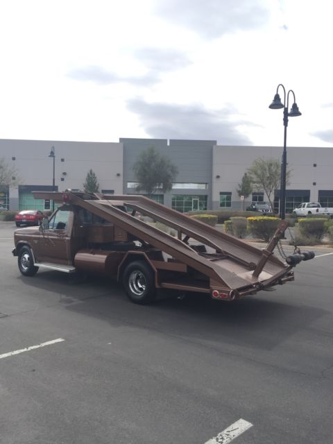 1983 Ford F 350 Car Hauler Wedge Truck Ramp Truck Tow Truck
