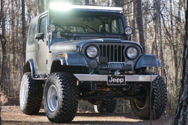 1984 Jeep Cj7 4x4 4wd Matching Hard Top And 2 Sets Doors