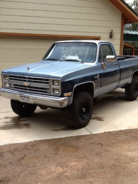 1985 chevy C20 pickup truck 454 3/4 ton 4x4 automatic rebuilt engine