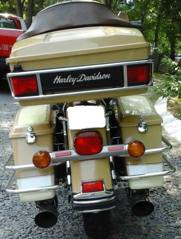 1985 Harley Davidson Flh One Owner Tan Cream Excellent