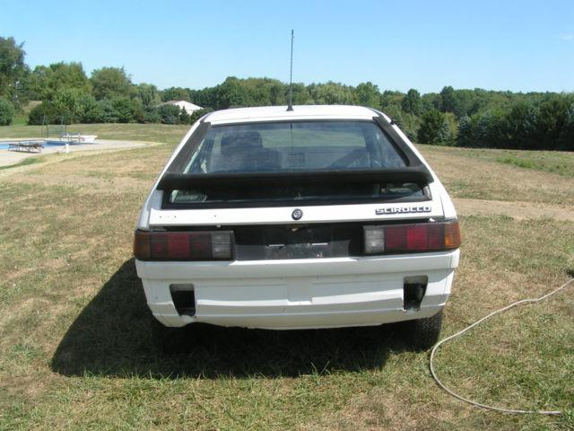 1985 Volkswagen Scirocco Base Coupe 2-Door 1 8L