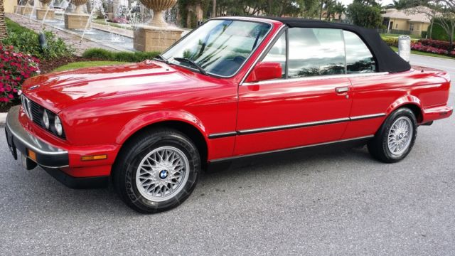 1987 1988 1989 Bmw 325i 325ic Convertible Cabriolet Red Black 3 Series