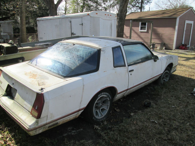 1987 Chevrolet Monte Carlo SS Aerocoupe As is for parts or