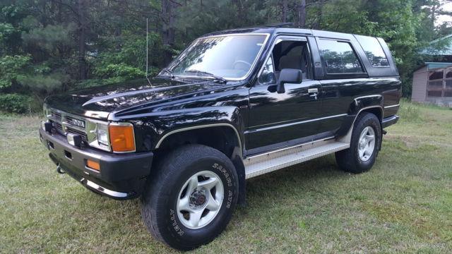 1987 Toyota 4Runner SR5 Black/Gray 5 Speed Sunroof PW PL ...