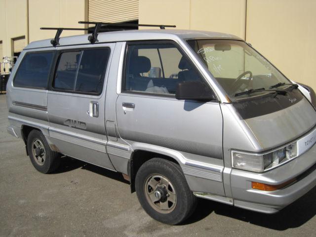 toyota cargo van 1987