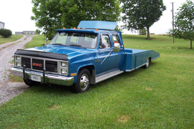 1988 Gmc 3500 4 Door Crew Cab Car Hauler Hodges Bed Wedge