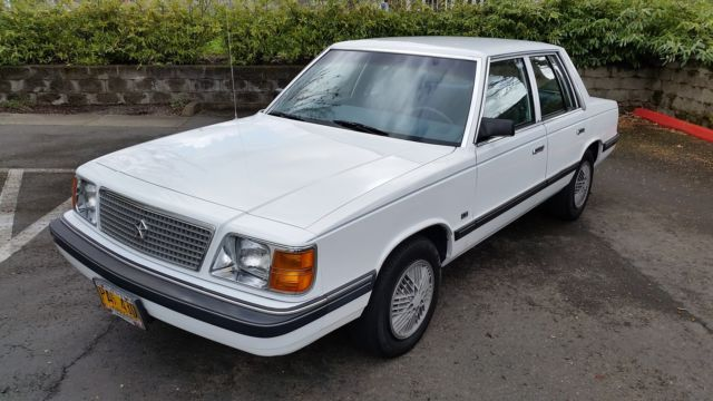 1988 Plymouth Reliant | Click here for more car pictures ... |Plymouth Reliant White