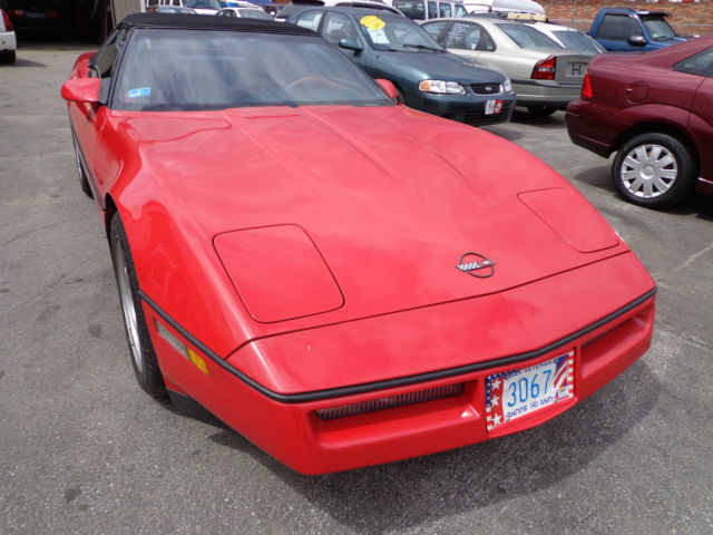 1990 Chevrolet Corvette Red Convertible Z52 L98 *Service