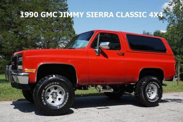 1990 Gmc Jimmy Sierra 4x4 Classic Restored Cold Ac Orig Miles