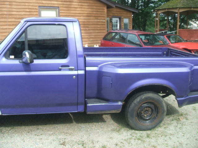 1995 f150 flareside runs drives project truck parts rust. Black Bedroom Furniture Sets. Home Design Ideas