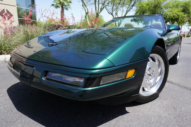 1995 Green Corvette Convertible Low Miles Lik 1990 1991