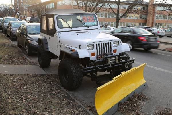 1995 jeep wrangler yj with lift kit plow and class 3 hitch. Black Bedroom Furniture Sets. Home Design Ideas