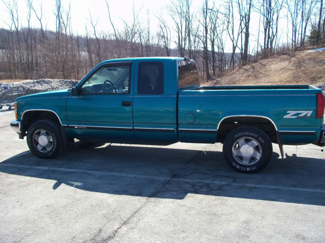 1996 chevrolet silverado z71 off road extended cab 4x4 pick up truck. Black Bedroom Furniture Sets. Home Design Ideas