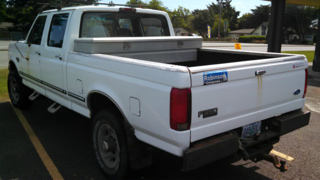 1996 ford f 250 4x4 xl crew cab pickup 4 door 7 3l diesel. Black Bedroom Furniture Sets. Home Design Ideas