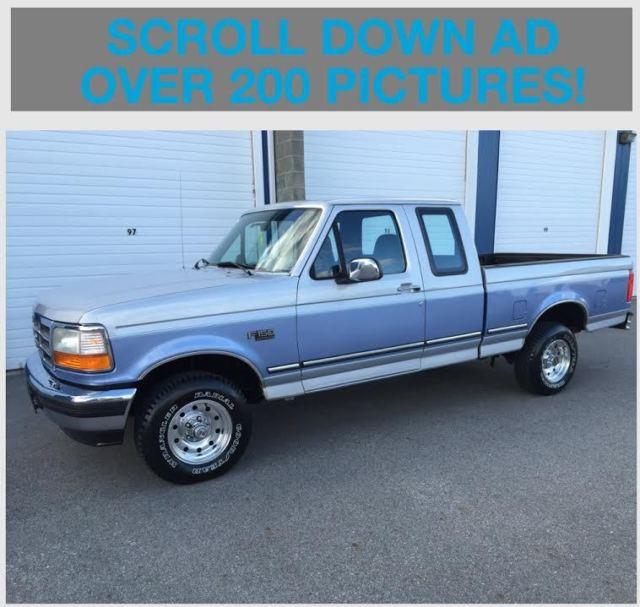 1996 Ford F150 Supercab 4x4 XLT 62,152 Actual Miles 2