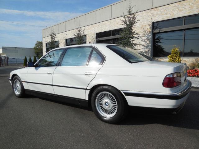 1997 BMW 750iL E38 V12, 48K MILES!! GORGEOUS ALPINE WHITE ...