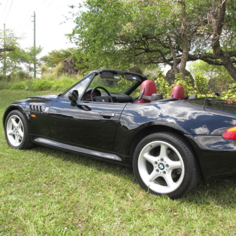 1997 bmw z3 28 only 42 k miles 5 speed black over red showroom condition black bmw z3 1997