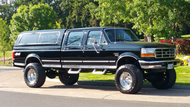1997 ford f350 4x4 crew cab xlt 7 3 39 liter power stroke diesel 180k no reserve. Black Bedroom Furniture Sets. Home Design Ideas