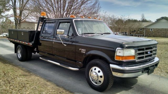 1997 ford f350 crew cab xlt turbo diesel 7 3 manual flatbed gooseneck. Black Bedroom Furniture Sets. Home Design Ideas