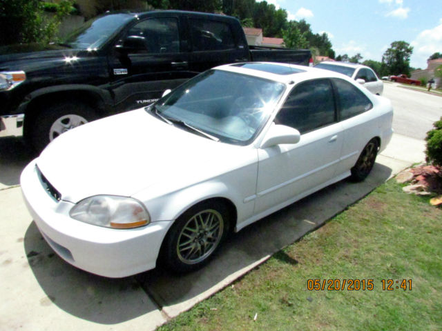 1997 honda civic ex coupe white 178k 5 spped manual clean title motor swap. Black Bedroom Furniture Sets. Home Design Ideas