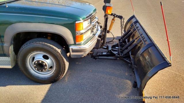 1998 Chevy Silverado 3500 4WD Diesel 6 5 Dump Snowplow Salt