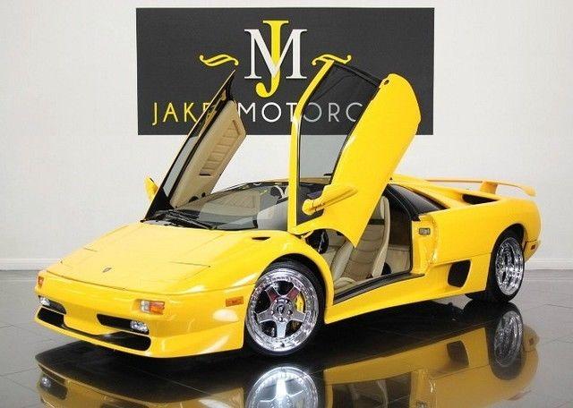 1998 Lamborghini Diablo Sv Rare Collector Car Yellow On Snowcorn