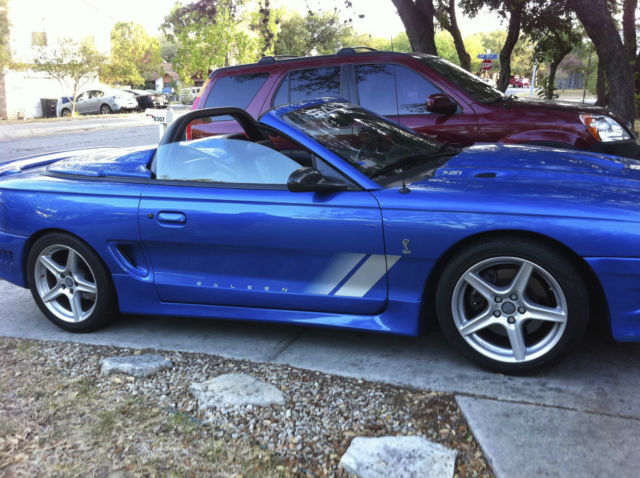 1998 saleen s281 cobra mustang convertible in bright atlantic blue. Black Bedroom Furniture Sets. Home Design Ideas
