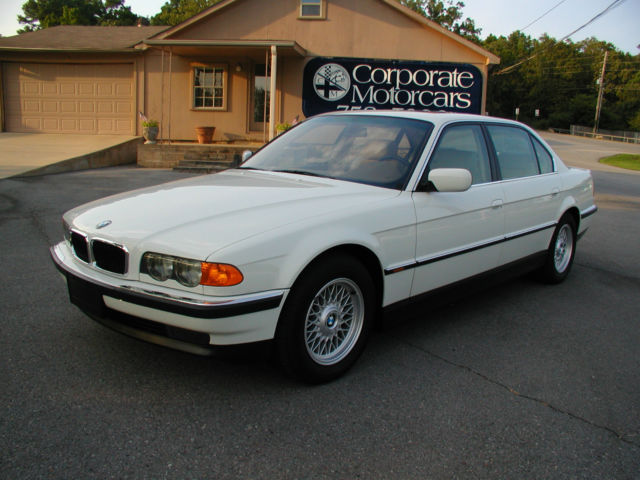1999 BMW 740IL White With Tan Leather Only 24439 Miles Loaded All Original