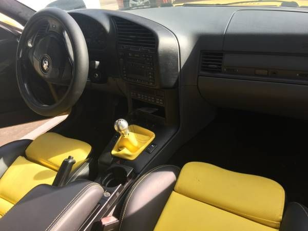 1999 bmw m3 e36 coupe dakar yellow custom vader interior. Black Bedroom Furniture Sets. Home Design Ideas