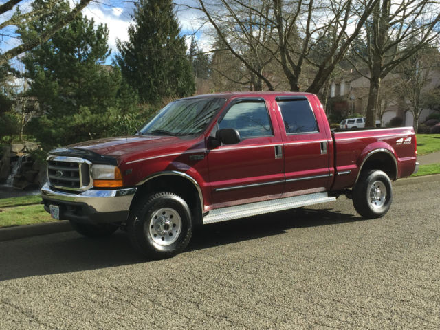 1999 ford f250 4x4 crew cab 4rd xlt 5 4l triton v8 only 34k actual miles 1 39 owner. Black Bedroom Furniture Sets. Home Design Ideas