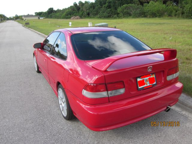 1999 Honda Civic Si Coupe EM1 1.6L 2-Door Milano Red ...