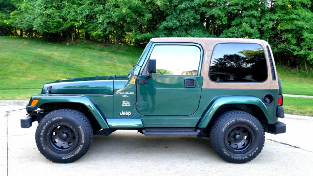 1999 jeep wrangler sahara ed 50k miles 4 0l tj hard top 5spd manual. Black Bedroom Furniture Sets. Home Design Ideas