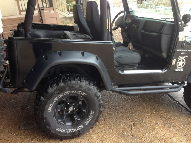 1999 jeep wrangler sport utility 2 door 4 0l 4x4 hardtop 33 tires 4 lift. Black Bedroom Furniture Sets. Home Design Ideas