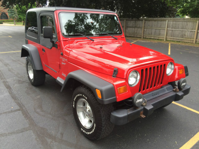 1999 jeep wrangler tj only 96k miles 4 0l hard top 5 speed manual flame red. Black Bedroom Furniture Sets. Home Design Ideas