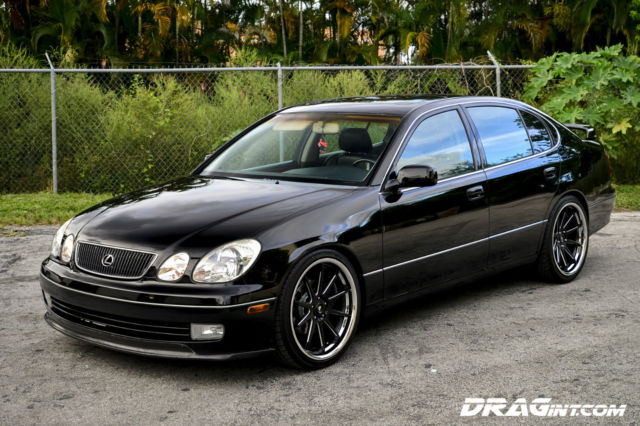 "Jdm Cars For Sale >> 1999 Lexus GS300 Black 2JZGTE VVTI Twin Turbo Black Leather 20"" Wheels JDM FGK"