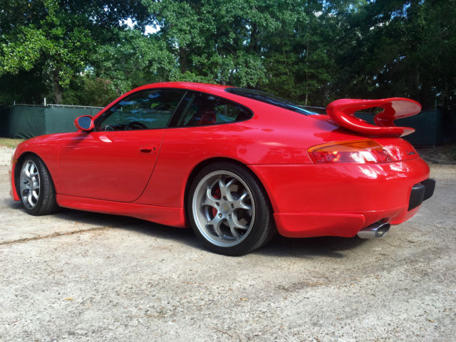 1999 RED Porsche 911 (type 996) Carrera with factory GT3 ...