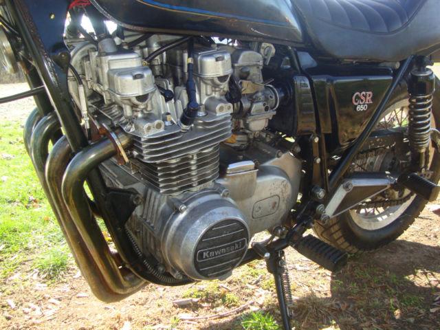 2 1981 KAWASAKI KZ CSR650 MOTORCYCLE 4 CYLINDER 1 WITH TITLE
