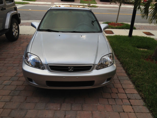 2000 honda civic coupe EX automatic silver sunroof clean