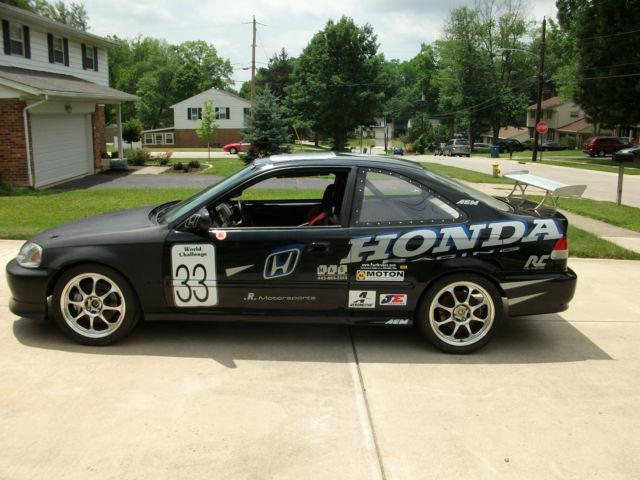 2000 honda civic si world challenge race car track car for Honda civic race car