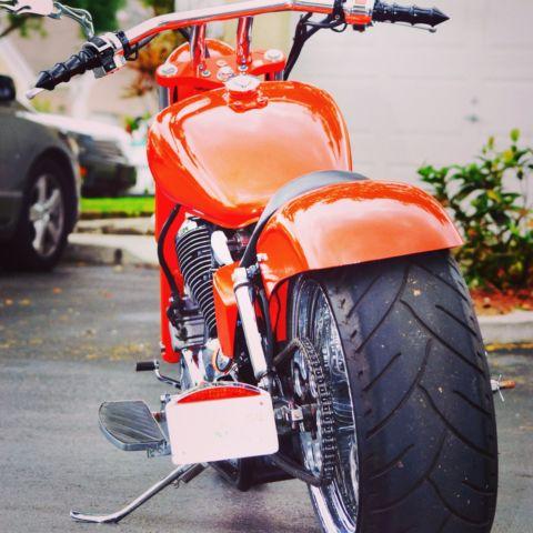 White Tire Paint >> 2000 Honda Shadow ace custom built with fat tire kit