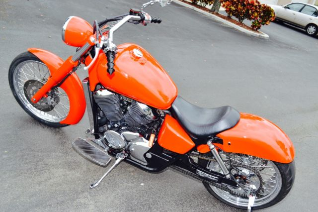 2000 Honda Shadow ace custom built with fat tire kit