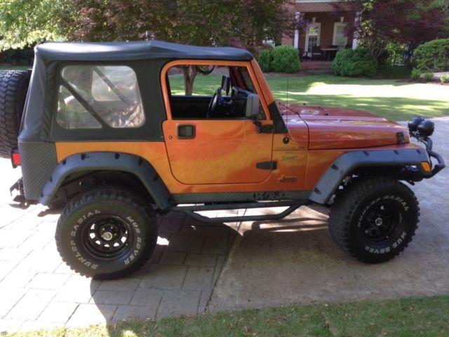 2000 jeep wrangler sport tj 4 0l 6cyl lifted