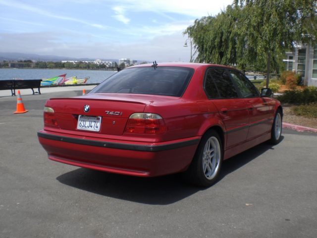 Worksheet. 2001 BMW 740i E38 M Sport Package Imola red with Wide Nav