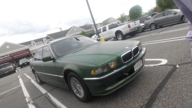 2001 BMW E38 740il Custom Gold Flake Green