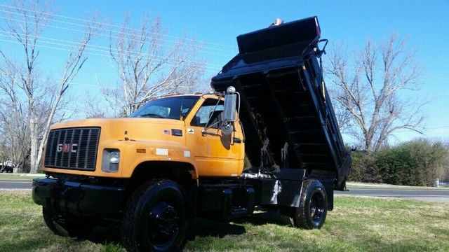 2001 GMC 7500 DUMP TRUCK Snow Plow Frame Included CAT DIESEL